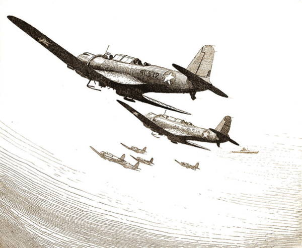 Wall Art - Photograph - Navy Scout Bombers 1943 by Padre Art