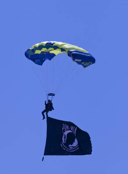 Photograph - Navy Seal Leap Frogs Pow Flag by Donna Corless