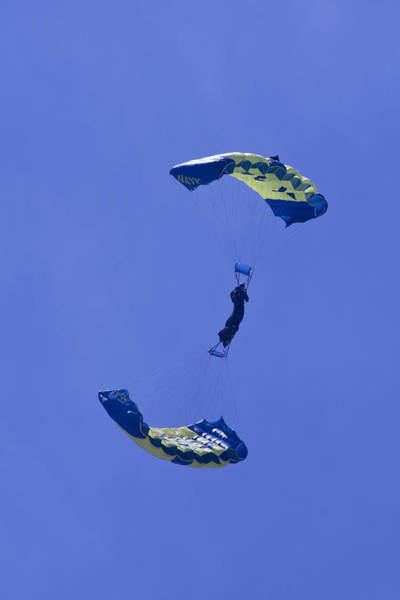 Photograph - Navy Seals Leap Frogs One Upside Down 2 by Donna Corless