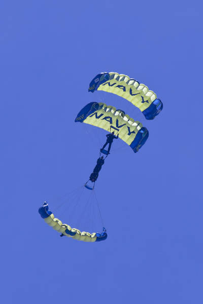 Photograph - Navy Seals Leap Frogs One Upside Down by Donna Corless