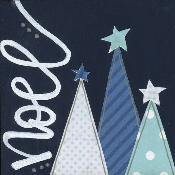 Wall Art - Painting - Navy Trees Noel by Alli Rogosich
