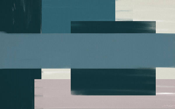 Painting - Navy Silence II Rectangular Format by Lourry Legarde