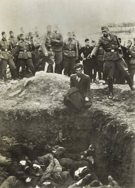 Holocaust Photograph - Nazi Police And Wehrmacht Soldiers by Everett