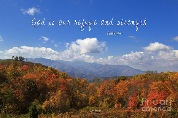 Photograph - Nc Mountains With Scripture by Jill Lang