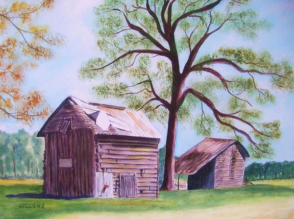 Nc Tobacco Barns Art Print
