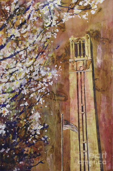 Bells Painting - Ncsu Bell Tower by Ryan Fox