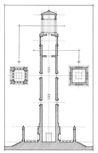 Nc State Wall Art - Drawing - Ncsu Memorial Bell Tower by Calvin Durham