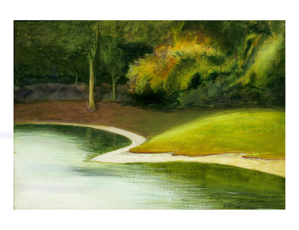 Painting - Ne 1st St  Pond by Peter Senesac
