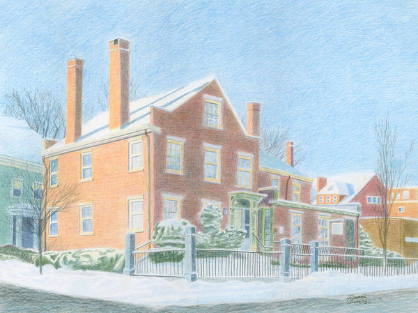 Drawing - Neal Dow House Portland Maine by Dominic White