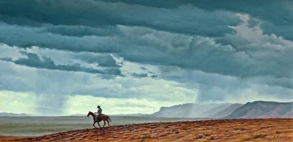 New Mexico Wall Art - Painting - Near Carlesbad by Paul Krapf
