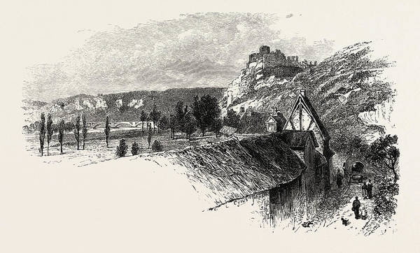 Chateau Drawing - Near Chateau Gaillard, Normandy And Brittany by French School