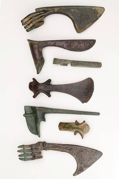 Middle Ages Photograph - Near East Bronze Age Axes by Paul D Stewart