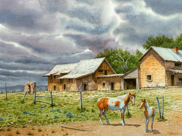 Adobe Wall Art - Painting - Near Taos by Paul Krapf