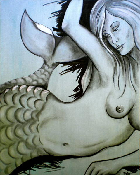 Wall Art - Painting - Nearly Naked Sea Pearl by Debi Starr