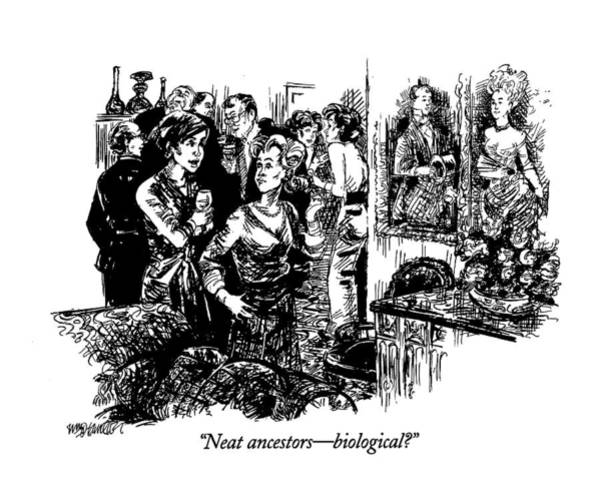 1993 Drawing - Neat Ancestors - Biological? by William Hamilton