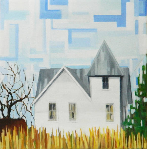 Painting - Nebraska Farmhouse by Ron Erickson