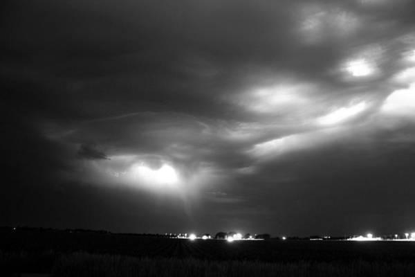 Photograph - Nebraska Cells Redevloping Over South Central Nebraska by NebraskaSC