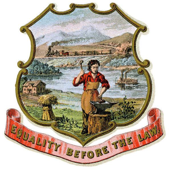 Wall Art - Painting - Nebraska Coat Of Arms by Granger