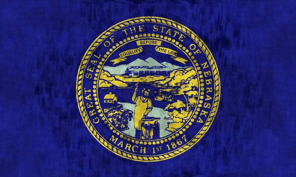Nebraska Digital Art - Nebraska Flag by World Art Prints And Designs