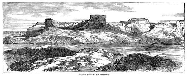 Wall Art - Painting - Nebraska Ruins, 1858 by Granger
