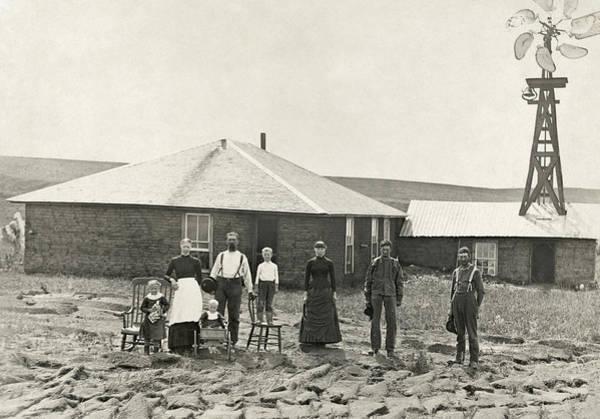 Photograph - Nebraska Settlers, C1885 by Granger