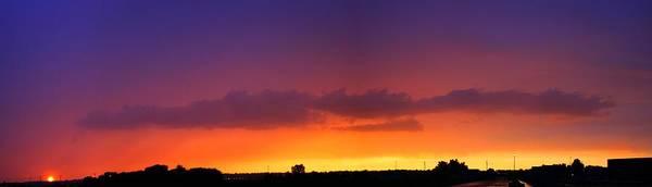 Photograph - Nebraska Thunderstorm Sunset by NebraskaSC