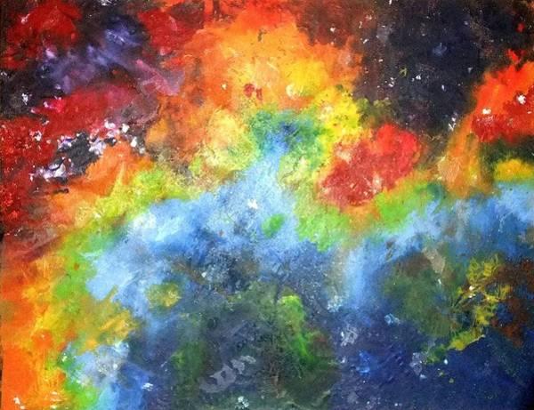 Deep Space Mixed Media - Nebula by Nicole Henne