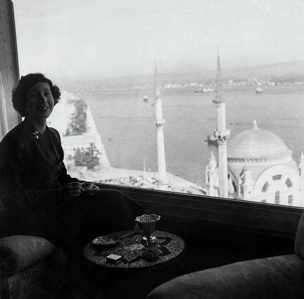 Coffee Photograph - Necla Erad By The Bosporus by Horst P. Horst