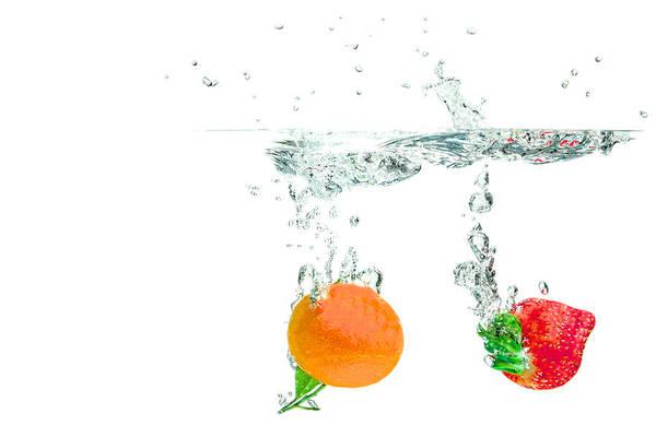 Photograph - Nectarine And Strawberry by Peter Lakomy