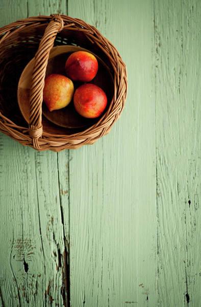 Wood Photograph - Nectarine by Feryersan