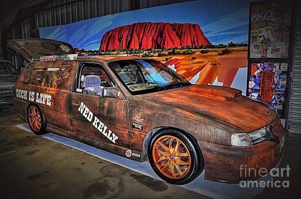 Wall Art - Photograph - Ned Kelly's Car At Ayers Rock by Kaye Menner