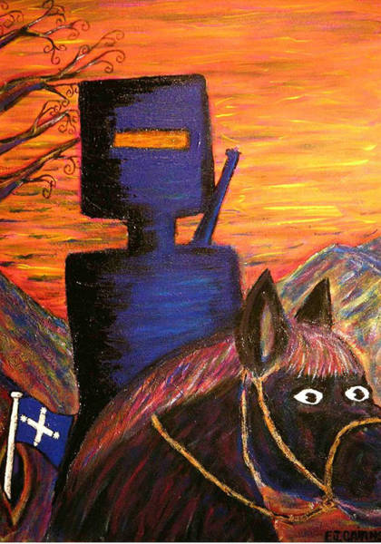 Eureka Painting - Ned Kelly's Sunset Sky   by Ed EJCairns  Cairnduff