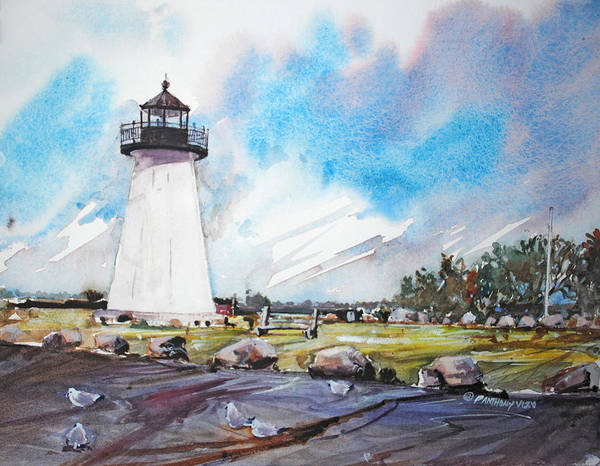 Painting - Ned's Point Light by P Anthony Visco