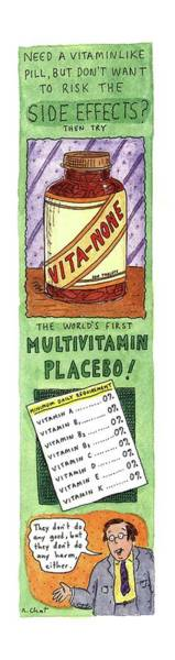 Fake Drawing - Need A Vitamin Like Pill by Roz Chast