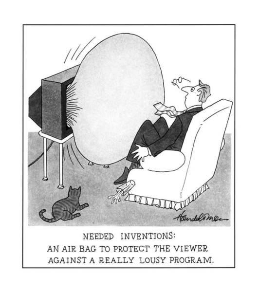 Inventions Drawing - Needed Inventions: An Airbag To Protect by J.B. Handelsman