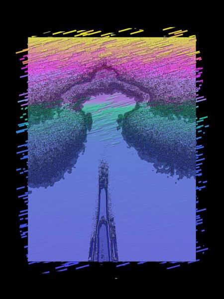 Purple Rain Digital Art - Needle In The Mist by Tim Allen