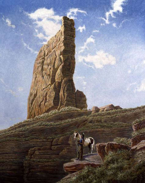 Needles Painting - Needle Rock by Gregory Perillo