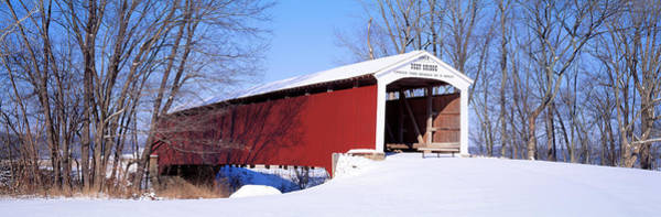 Yesterday Photograph - Neet Covered Bridge Parke Co In Usa by Panoramic Images