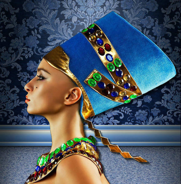 Digital Art - Nefertiti 2 by Karen Showell