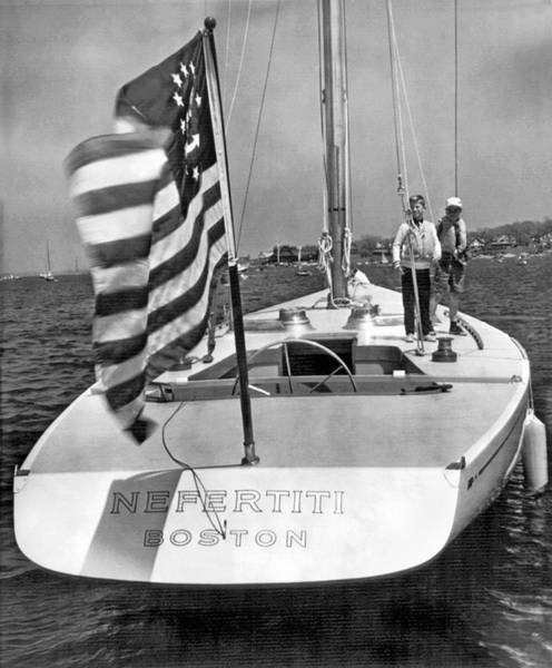 Americas Cup Photograph - Nefertiti In America's Cup Race by Underwood Archives
