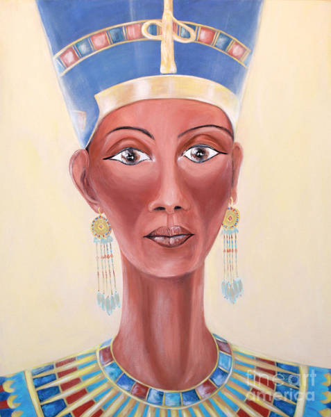 Painting - Nefertiti. Inspirations Collection by Oksana Semenchenko