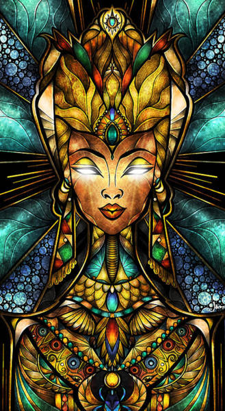 Mixed Media - Nefertiti by Mandie Manzano