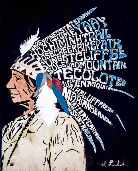 Digital Art - Neighborhood Native American by Photographic Art by Russel Ray Photos