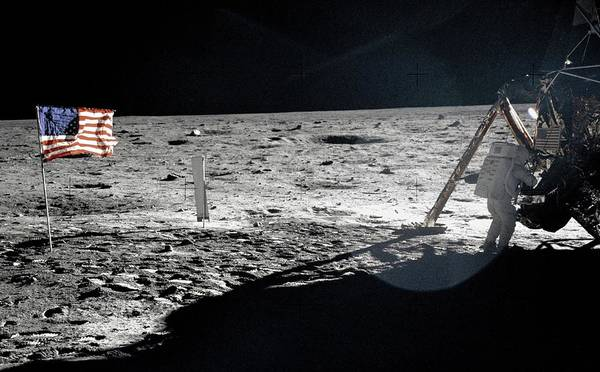 Wall Art - Photograph - Neil Armstrong On The Moon by Nasa/science Photo Library