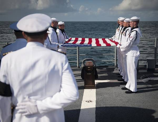 Wall Art - Photograph - Neil Armstrong's Burial At Sea, 2012 by Science Photo Library