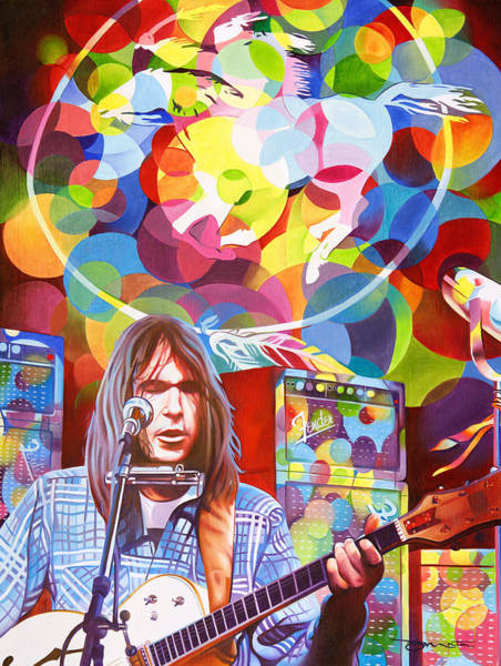 Wall Art - Painting - Neil Young-crazy Horse by Joshua Morton