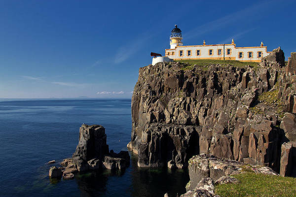Foghorns Photograph - Neist Point Lighthouse by David Pringle