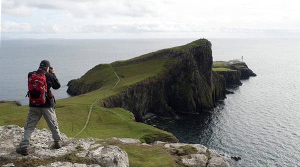 Photograph - Neist Point Lighthouse  Isle Of Skye Scotland Uk  by Dubi Roman
