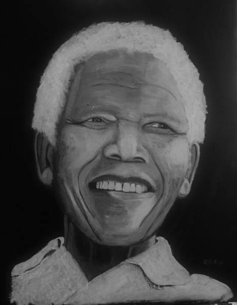 Painting - Nelson Mandela 2 by Richard Le Page