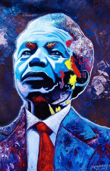 Painting - Nelson Mandela by Evans Yegon